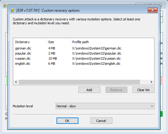 Elcomsoft System Recovery: customising password recovery attacks