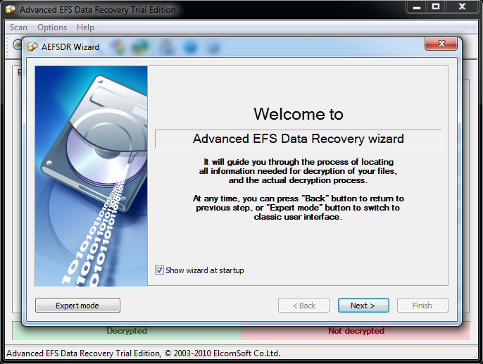 Advanced EFS Data Recovery Wizard